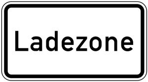 Verkehrszeichen 1012-30 StVO, Ladezone (Maße/Folie/Form:  <b>231x420mm</b>/RA1/Flachform 2mm (Art.Nr.: 1012-30-111))