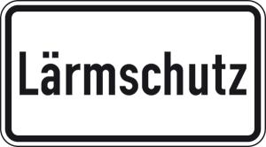 Verkehrszeichen 1012-36 StVO, Lärmschutz (Maße/Folie/Form:  <b>231x420mm</b>/RA1/Flachform 2mm (Art.Nr.: 1012-36-111))