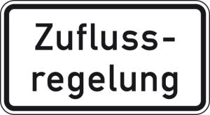 Verkehrszeichen 1012-37 StVO, Zuflussregelung (Maße/Folie/Form:  <b>231x420mm</b>/RA1/Flachform 2mm (Art.Nr.: 1012-37-111))