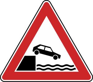 Verkehrszeichen 101-53 StVO, Ufer (Seitenlänge/Folie/Form:  <b>630mm</b>/RA1/Flachform 2mm (Art.Nr.: 101-53-111))
