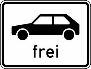 Verkehrszeichen 1024-10 StVO, Personenkraftwagen frei (Maße/Folie/Form:  <b>315x420mm</b>/RA1/Flachform 2mm (Art.Nr.: 1024-10-111))