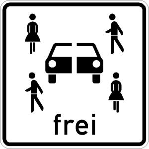 Verkehrszeichen 1024-21 StVO, Carsharing-Fahrzeuge frei (Maße/Folie/Form:  <b>420 x 420 mm</b> / RA1 / Flachform 2 mm (Art.Nr.: 1024-21-111))