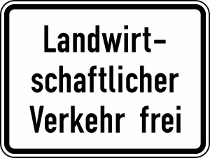 Verkehrszeichen 1026-36 StVO, Landwirtschaftlicher Verkehr frei (Maße/Folie/Form:  <b>315x420mm</b>/RA1/Flachform 2mm (Art.Nr.: 1026-36-111))