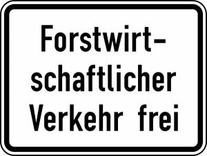 Verkehrszeichen 1026-37 StVO, Forstwirtschaftlicher Verkehr frei (Maße/Folie/Form:  <b>315x420mm</b>/RA1/Flachform 2mm (Art.Nr.: 1026-37-111))