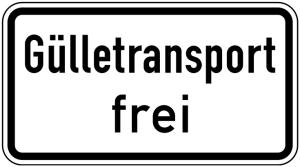 Verkehrszeichen 1026-62 StVO, Gülletransport frei (Maße/Folie/Form:  <b>231x420mm</b>/RA1/Flachform 2mm (Art.Nr.: 1026-62-111))
