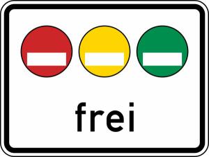 Verkehrszeichen 1031-50 StVO, Freistellung vom Verkehrsverbot... (Maße/Folie/Form:  <b>450x600mm</b>/RA1/Flachform 2mm (Art.Nr.: 1031-50-111))