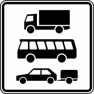 Verkehrszeichen 1049-13 StVO, Nur Kraftfahrzeuge mit zulässigen Gesamtmasse über 3,5 t (Maße/Folie/Form:  <b>420x420mm</b>/RA1/Flachform 2mm (Art.Nr.: 1049-13-111))