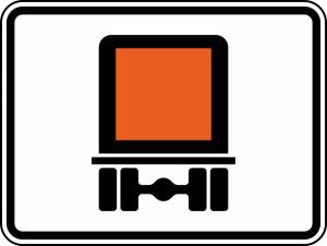 Verkehrszeichen 1052-30 StVO, Streckenverbot für den Transport gefährlichen Gütern