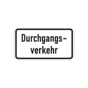 Verkehrszeichen 1053-36 StVO, Durchgangsverkehr (Maße/Folie/Form:  <b>231x420mm</b>/RA1/Flachform 2mm (Art.Nr.: 1053-36-111))