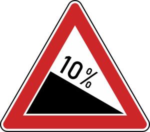 Verkehrszeichen 108 StVO, Gefälle