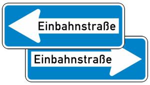 Verkehrszeichen 220-40 StVO, Einbahnstraße doppelseitig (Folie/Form: RA1/Flachform 2mm (Art.Nr.: 220-40-11))