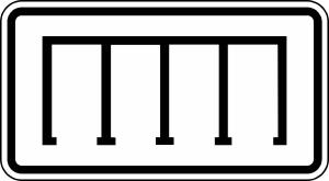Verkehrszeichen 2401 StVO, Parkordnung (gerade) (Maße/Folie/Form:  <b>231x420mm</b>/RA1/Flachform 2mm (Art.Nr.: 2401-111))