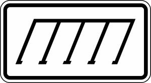 Verkehrszeichen 2402 StVO, Parkordnung (rechts) (Maße/Folie/Form:  <b>231x420mm</b>/RA1/Flachform 2mm (Art.Nr.: 2402-111))