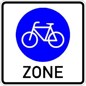 Verkehrszeichen 244.3 StVO, Beginn einer Fahrradzone (Maße/Folie/Form:  <b>600 x 600 mm</b> / RA1 / Flachform 2 mm (Art.Nr.: 244.3-211))
