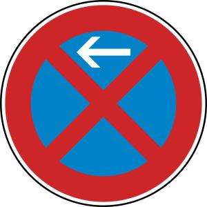 Verkehrszeichen 283-10 StVO, Absolutes Haltverbot Anfang (Rechtsaufstellung) (Durchmesser/Folie/Form:  <b>420 mm</b> / RA1 / Flachform 2 mm (Art.Nr.: 283-10-111))