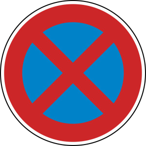 Verkehrszeichen 283 StVO, Absolutes Haltverbot (Durchmesser/Folie/Form:  <b>420 mm</b> / RA1 / Flachform 2 mm (Art.Nr.: 283-111))