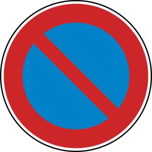 Verkehrszeichen 286 StVO, Eingeschränktes Haltverbot (Durchmesser/Folie/Form:  <b>420 mm</b> / RA1 / Flachform 2 mm (Art.Nr.: 286-111))