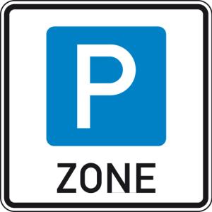 Verkehrszeichen 314.1 StVO, Beginn einer Parkraumbewirtschaftungszone (Maße/Folie/Form:  <b>600x600mm</b>/RA1/Flachform 2mm (Art.Nr.: 314.1-111))
