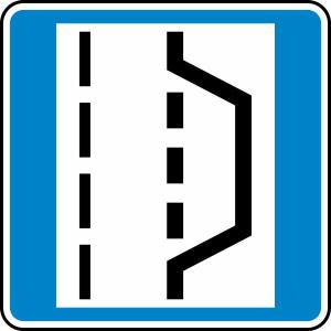 Verkehrszeichen 328 StVO, Nothalte- und Pannenbucht (Maße/Folie/Form:  <b>600x600mm</b>/RA1/Flachform 2mm (Art.Nr.: 328-211))