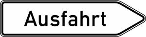 Verkehrszeichen 331.1-20 StVO, Ausfahrt von anderen Straßen außerhalb der Autobahn... (Folie/Form: RA1/Flachform 2mm (Art.Nr.: 333.1-20-111))