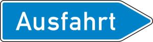 Verkehrszeichen 333 StVO, Ausfahrt von der Autobahn (Pfeilschild) (Modell: mit Folie Typ 1 (RA1) (Art.Nr.: 333-1))
