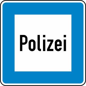 Verkehrszeichen 363 StVO, Polizei (Maße/Folie/Form:  <b>600x600mm</b>/RA1/Flachform 2mm (Art.Nr.: 363-111))