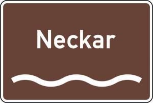 Verkehrszeichen 386.1-53 StVO, Touristischer Hinweis Fluss oder Kanal (Modell/Folie/Form: RA1/Flachform 2mm (Art.Nr.: 386.1-53-111))