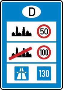 Verkehrszeichen 393 StVO, Informationstafel an Grenzübergangsstellen (Maße (HxB)/Folie: 2400x1650/ <b>RA1</b> (Art.Nr.: 393-112))