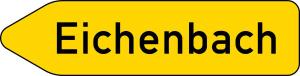 Verkehrszeichen 419-10 StVO, Pfeilewegweiser auf sonstigen Straßen mit geringerer..., einseitig, linksweisend (Folie/Form: RA1/Flachform 2mm (Art.Nr.: 419-10-111))