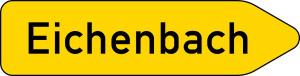 Verkehrszeichen 419-20 StVO, Pfeilwegweiser auf sonstigen Straßen mit geringerer..., einseitig, rechtsweisend (Folie/Form: RA1/Flachform 2mm (Art.Nr.: 419-20-111))