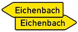 Verkehrszeichen 419-40 StVO, Pfeilwegweiser auf sonstigen Straßen mit geringerer..., doppelseitig, Schrifthöhe 105 mm (Folie/Form: RA1/Flachform 2mm (Art.Nr.: 419-40-111))