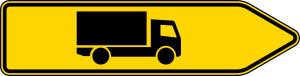 Verkehrszeichen 421-20 StVO, Pfeilwegweiser für KFZ mit einer zul. Gesamtmasse, rechtsweisend (Folie/Form: RA1/Flachform 2mm (Art.Nr.: 421-20-111))