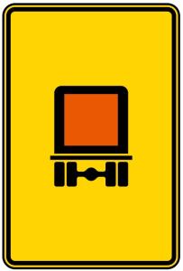 Verkehrszeichen 442-51 StVO, Vorwegweiser für kennzeichnungspflichtige Fahrzeuge (Maße/Folie/Form:  <b>630x420mm</b>/RA1/Flachform 2mm (Art.Nr.: 442-51-111))