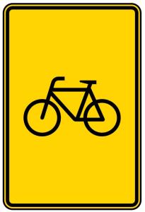 Verkehrszeichen 442-53 StVO, Vorwegweiser für Radverkehr, ohne Pfeilsymbol (Maße/Folie/Form:  <b>630x420mm</b>/RA1/Flachform 2mm (Art.Nr.: 442-53-111))