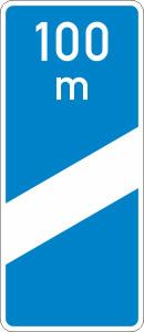 Verkehrszeichen 450-50 StVO, Ankündigungsbake, einstreifig (Form/Folie: Flachform 3mm/RA1 (Art.Nr.: 450-50-113))