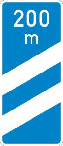 Verkehrszeichen 450-51 StVO, Ankündigungsbake, zweistreifig (Form/Folie: Flachform 3mm/RA1 (Art.Nr.: 450-51-113))