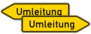 Verkehrszeichen 454-40 StVO, Umleitungswegweiser, doppelseitig (Folie/Form: RA1/Flachform 2mm (Art.Nr.: 454-40-111))