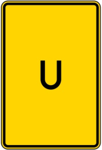 Verkehrszeichen 455.1-50 StVO, Ankündigung/ Fortsetzung der Umleitung, ohne Pfeilsymbol (Maße/Folie/Form:  <b>630x420mm</b>/RA1/Flachform 2mm (Art.Nr.: 455.1-50-111))
