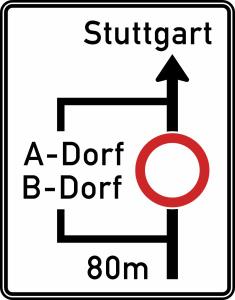 Verkehrszeichen 458 StVO, Planskizze (Modell/Folie/Form: ohne Text/RA1/Flachform 2mm (Art.Nr.: 458-111))