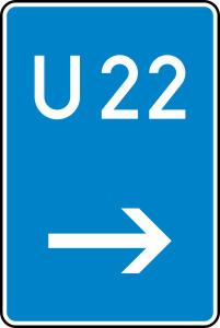 Verkehrszeichen 460-21 StVO, Bedarfsumleitung, hier rechts (Maße/Folie/Form:  <b>630x420mm</b>/RA1/Flachform 2mm (Art.Nr.: 460-21-111))