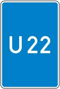Verkehrszeichen 460-50 StVO, Bedarfsumleitung, ohne Pfeilsymbol (Maße/Folie/Form:  <b>630x420mm</b>/RA1/Flachform 2mm (Art.Nr.: 460-50-111))