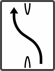 Verkehrszeichen 501-10 StVO, Überleitungstafel (Folie/Entfernungsangabe/Maße(HxB): RA1/Flachform 2mm<br> <b>ohne Entfernungsangabe</b><br>1600x1250mm (Art.Nr.: 501-10-111))