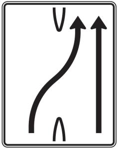Verkehrszeichen 501-26 StVO, Überleitungstafel (Folie/Entfernungsangabe/Maße(HxB): RA1/Flachform 2mm<br> <b>ohne Entfernungsangabe</b><br>1600x1250mm (Art.Nr.: 501-26-111))