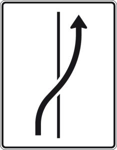 Verkehrszeichen 511-25 StVO, Verschwenkungstafel (Folie/Entfernungsangabe/Maße(HxB): RA1/Flachform 2mm<br> <b>ohne Entfernungsangabe</b><br>1600x1250mm (Art.Nr.: 511-25-111))