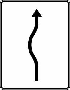 Verkehrszeichen 513-10 StVO, Verschwenkungstafel (Folie/Entfernungsangabe/Maße(HxB): RA1/Flachform 2mm<br> <b>ohne Entfernungsangabe</b><br>1600x1250mm (Art.Nr.: 513-10-111))