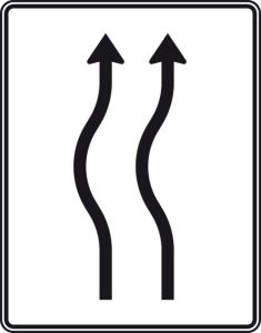 Verkehrszeichen 513-11 StVO, Verschwenkungstafel (Folie/Entfernungsangabe/Maße(HxB): RA1/Flachform 2mm<br> <b>ohne Entfernungsangabe</b><br>1600x1250mm (Art.Nr.: 513-11-111))