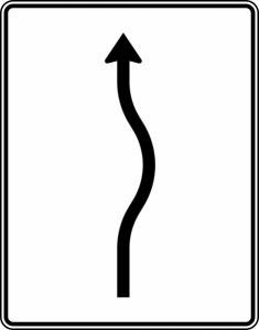 Verkehrszeichen 513-20 StVO, Verschwenkungstafel (Folie/Entfernungsangabe/Maße(HxB): RA1/Flachform 2mm<br> <b>ohne Entfernungsangabe</b><br>1600x1250mm (Art.Nr.: 513-20-111))