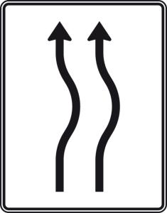 Verkehrszeichen 513-21 StVO, Verschwenkungstafel (Folie/Entfernungsangabe/Maße(HxB): RA1/Flachform 2mm<br> <b>ohne Entfernungsangabe</b><br>1600x1250mm (Art.Nr.: 513-21-111))
