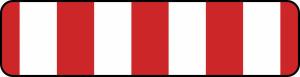 Verkehrszeichen 600-30 - 600-39 StVO, Absperrschranke, einseitig (Maße/Folie/Form:  <b>100x800 mm</b> / RA1 / Flachform 2 mm (Art.Nr.: 600-30-111))