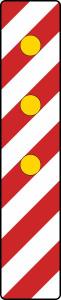 Verkehrszeichen 605-13 StVO, Warnlichtbake, linksweisend (Aufstellung rechts) (Folie: Folie Typ 1 (RA1) (Art.Nr.: wbl011))